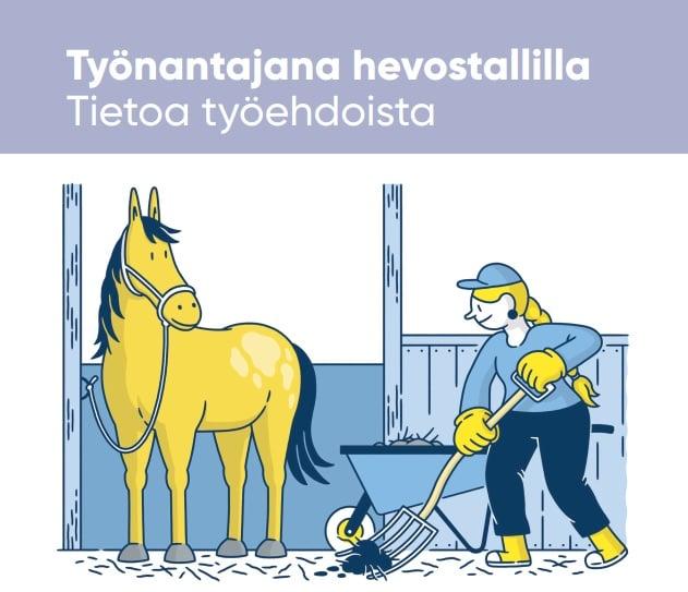 Työnantajana hevostallilla -opas
